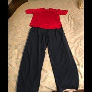 Bundle of men's Nike dri fit pant and shirt.